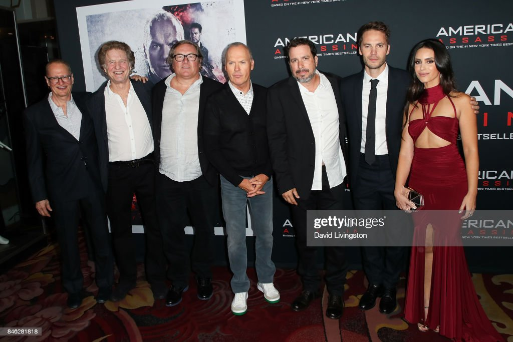 Stephen Schiff, Nick Wechsler, Lorenzo di Bonaventura, Michael Keaton, Michael Cuesta, Taylor Kitsch and Shiva Negar attend a Screening of CBS Films and Lionsgate's 'American Assassin' at TCL Chinese Theatre on September 12, 2017 in Hollywood, California.