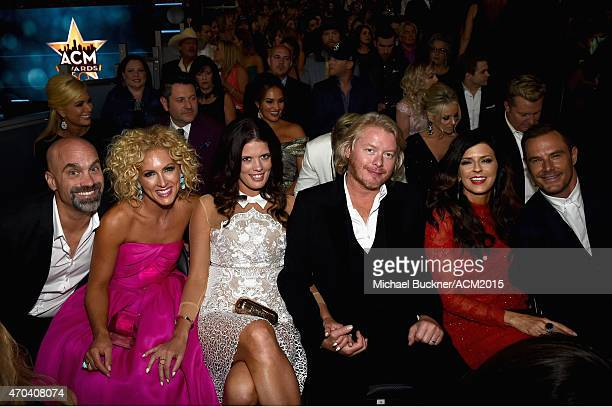 Stephen Schlapman Kimberly Schlapman Rebecca Arthur Phillip Sweet Karen Fairchild and Jimi Westbrook of Little Big Town during the 50th Academy of...