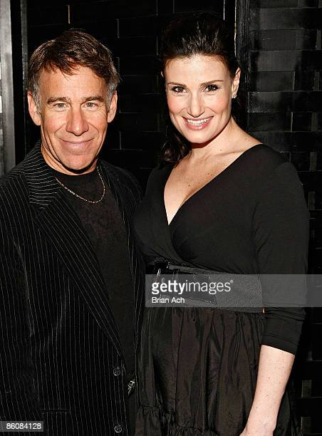 Stephen Schwartz and Idina Menzel attend the 2009 Dramatists Guild Fund annual benefit gala at the Hudson Theatre on April 20 2009 in New York City