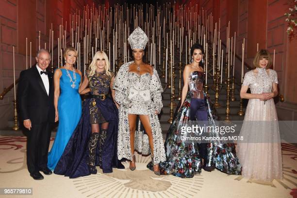 Stephen Schwarzman Christine Schwarzman Donatella Versace Rihanna Amal Clooney and Anna Wintour attend the Heavenly Bodies Fashion The Catholic...