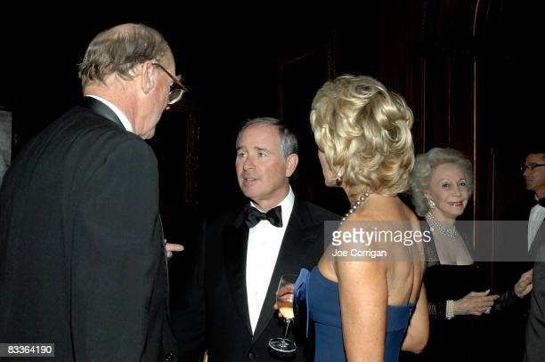 Stephen Schwarzman talks with other guests during The Frick Collection Autumn dinner at The Frick Collection on October 20 2008 in New York City
