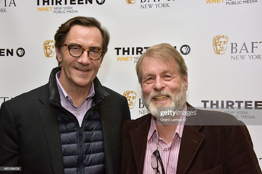 Stephen Segaller and Richard Denton attend the 'Shakespeare Uncovered' premiere at The Players Club on January 28, 2015 in New York City.