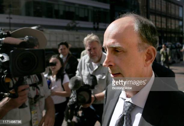 Stephen Semprevivo leaves Federal Court after sentencing in the college bribery scandal at the John Joseph Moakley United States Courthouse in Boston...