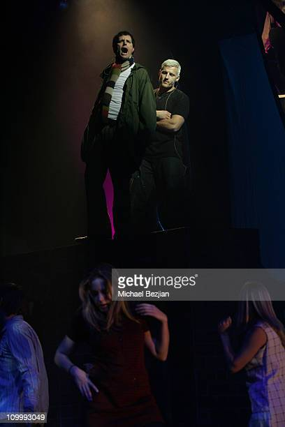 Stephen Shareaux and Zoli Teglas during Quadrophenia Musical Theatre Performance at The Avalon in Hollywood California United States