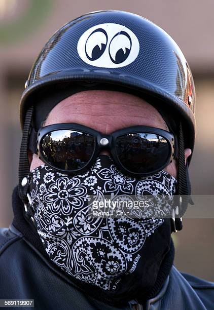Stephen Sheldon of Huntington Beach arrives prepared for the cold at the 17th annual Love Ride benefiting muscular dystrophy The ride begins at the...