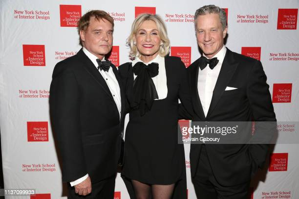 Stephen Sills Susan Magrino Dunning and Brian Sawyer attend New York School Of Interior Design Annual Gala at The University Club on March 5 2019 in...