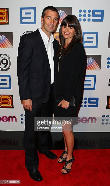 Stephen Silvagni and Jo Silvagni arrive at the live production of Lights Camera Party celebrating Channel Nine's Studio City on November 27 2010 in...