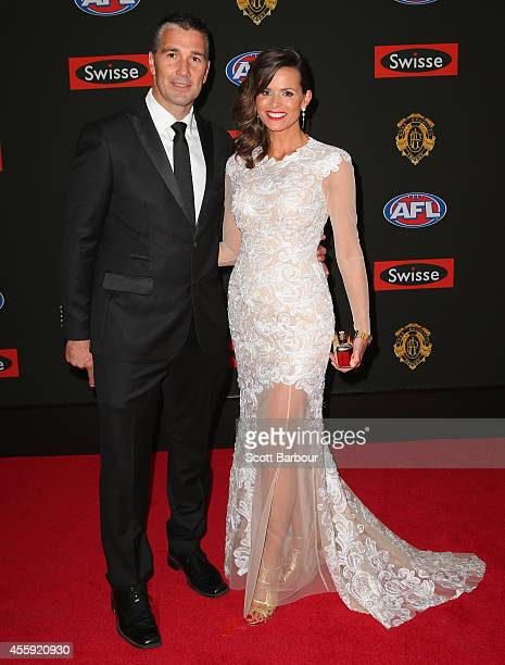 Stephen Silvagni and Jo Silvagni attend the 2014 Brownlow Medal at Crown Palladium on September 22 2014 in Melbourne Australia