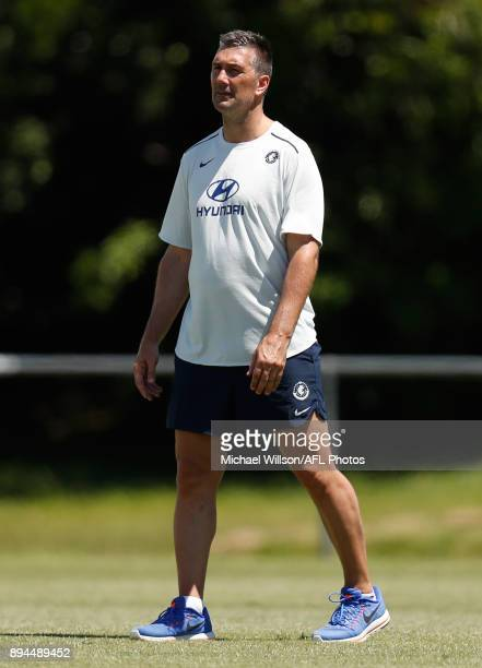 Stephen Silvagni of the Blues in action during the Carlton Blues AFL preseason training session at Maroochydore Multisport Complex on December 17...