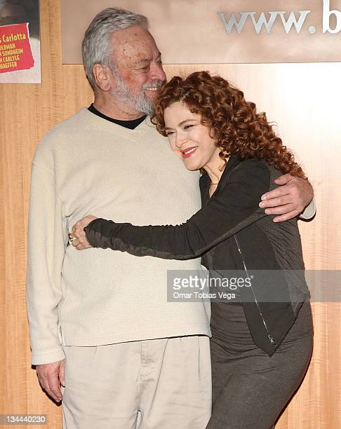 Stephen Sondheim and Bernadette Peters promote their new album at the Barnes Noble 86th Lexington on December 1 2011 in New York City