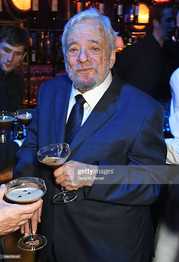 Stephen Sondheim attends The London Evening Standard Theatre Awards after party in partnership with The Ivy at The Old Vic Theatre on November 22, 2015 in London, England.