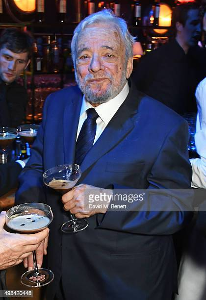 Stephen Sondheim attends The London Evening Standard Theatre Awards after party in partnership with The Ivy at The Old Vic Theatre on November 22...