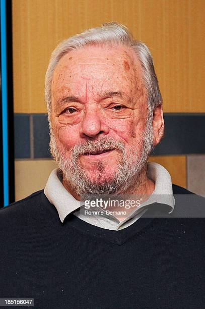 Stephen Sondheim attends the New York premiere of 'Merrily We Roll Along' at Regal Union Square Theatre Stadium 14 on October 17 2013 in New York City