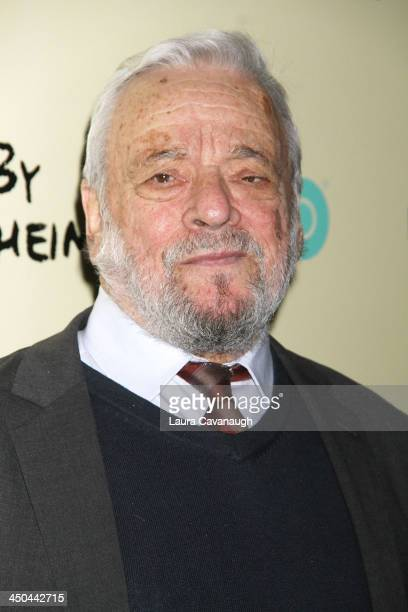 Stephen Sondheim attends the 'Six By Sondheim' premiere at the Museum of Modern Art on November 18 2013 in New York City