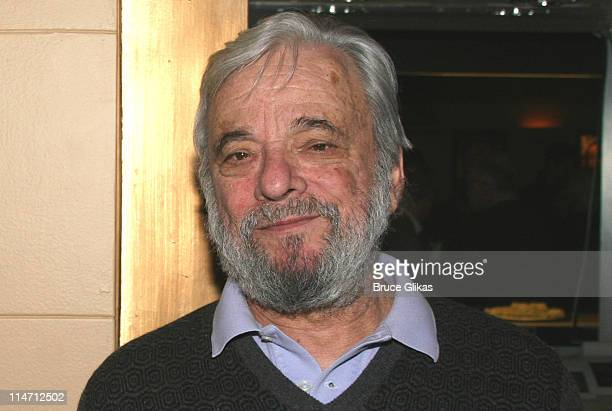 Stephen Sondheim composer during Encore's presents Stephen Sondheim's 'Follies' Opening Night Gala at City Center in New York City New York United...