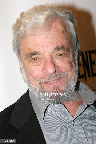 Stephen Sondheim composer during 'Sweeney Todd' Opening Night on Broadway at The Eugene O'Neill Theater then The Copacabana in New York City New York...