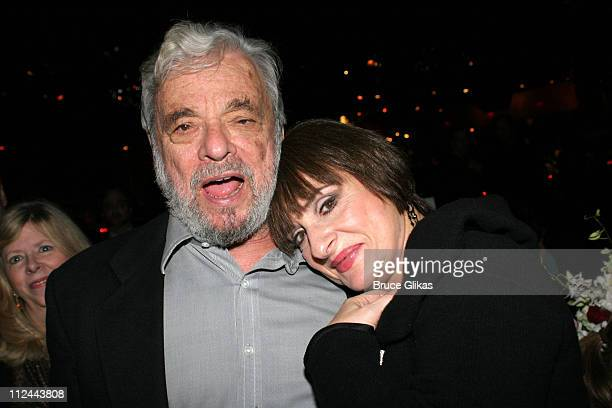 Stephen Sondheim composer with Patti LuPone