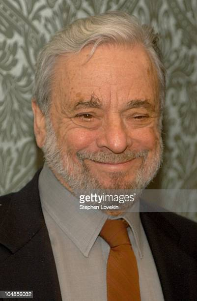 Stephen Sondheim during Eos Orchestra's 2003 Season Gala at The RitzCarlton Battery park in New York City NY United States