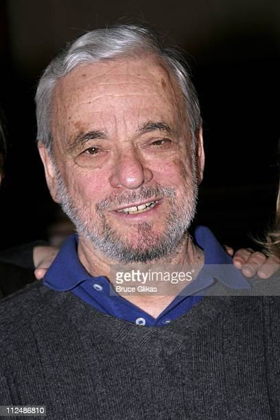 Stephen Sondheim during Sneak Preview of the Upcoming Sondheim 75th Birthday Celebration 'Children and Art' at St Paul and St Andrew Methodist Church...