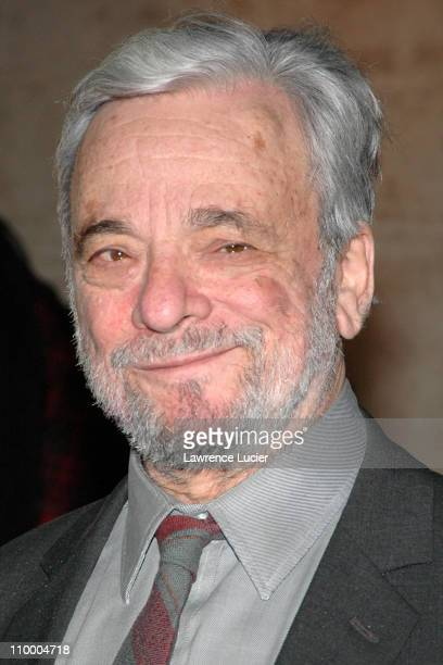 Stephen Sondheim during The AllStar Stephen Sondheim 75th Birthday Celebration Children and Art at Four Seasons Restaurant in New York City New York...