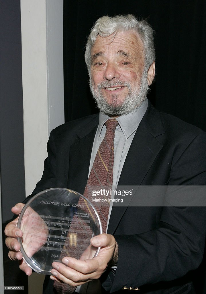 Stephen Sondheim during The Hollywood Bowl Celebrates Stephen Sondheim's 75th Birthday - Backstage at Hollywood Bowl in Hollywood, California, United States.