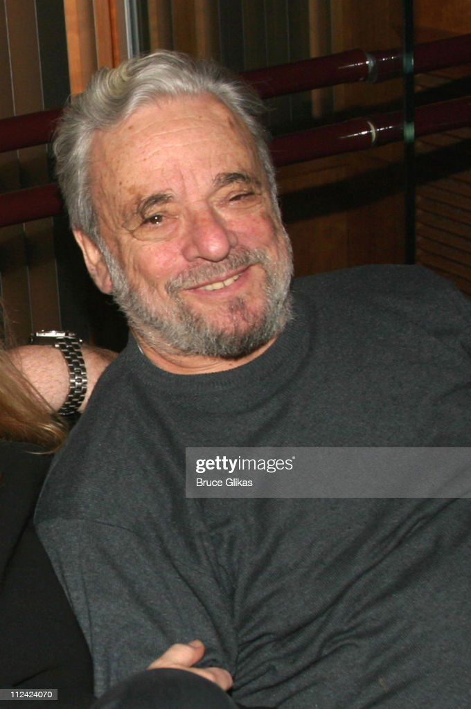 Stephen Sondheim **EXCLUSIVE ** during PS Classic's Records Stephen Sondheim's 'The Frogs' at The Hit Factory in New York City, New York, United States.