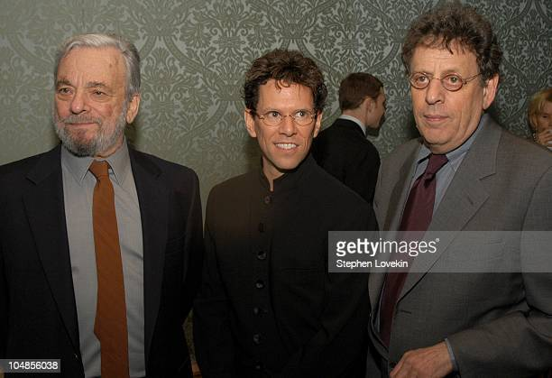 Stephen Sondheim Jonathan Scheffer and Philip Glass