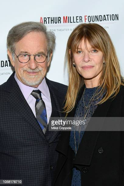 Stephen Spielberg and Kate Capshaw attend the 2018 Arthur Miller Foundation Honors at City Winery on October 22, 2018 in New York City.