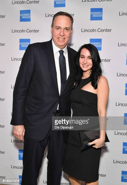 Stephen Sqeri and Tina Sqeri attends the Winter Gala at Lincoln Center at Alice Tully Hall on February 13 2018 in New York City