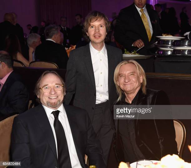 Stephen Stills Beck and Joe Walsh attend PreGRAMMY Gala and Salute to Industry Icons Honoring Debra Lee at The Beverly Hilton on February 11 2017 in...