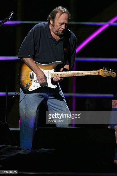 Stephen Stills of Crosby Nash and Stills performs onstage at the 25th Anniversary Rock Roll Hall of Fame Concert at Madison Square Garden on October...