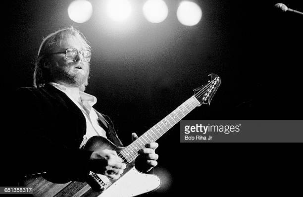 Stephen Stills performs in concert at Cal State University Long Beach December 16 1979 in Long Beach CA Stills was joined onstage with David Crosby