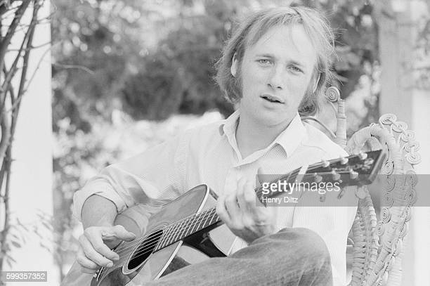 Stephen Stills Playing Acoustic Guitar at Home