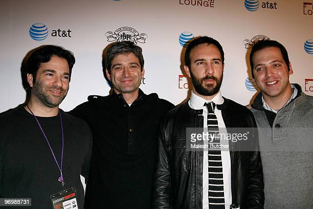 Stephen Susco Alex Lerner Ryan Lewis And John Stalbert Jr attend The Film Lounge at House of Hype on January 24 2010 in Park City Utah