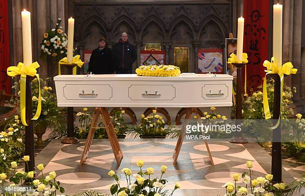 Stephen Sutton's coffin lies in Lichfield Cathedral during a two day vigil in his memory on May 30 2014 in Lichfield England Thousands of people have...