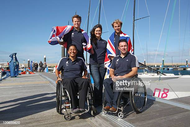 Stephen Thomas Hannah Stodel and Niki Birrell Alexandra Rickham and John Robertson pose for a photograph after their selection for London 2012...