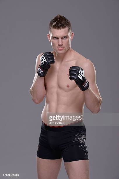 Stephen Thompson poses for a portrait during a UFC photo session on February 20 2014 in Las Vegas Nevada