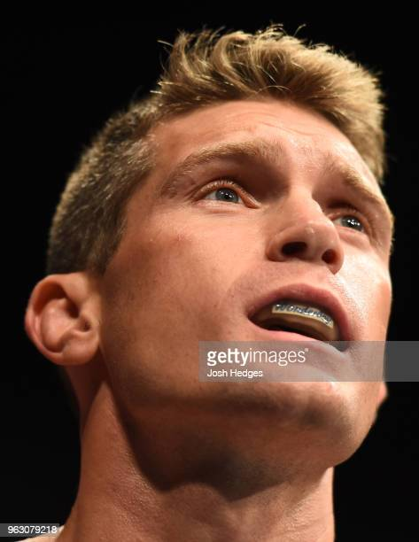 Stephen Thompson prepares to enter the Octagon before facing Darren Till of England in their welterweight bout during the UFC Fight Night event at...