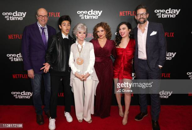 Stephen Tobolowsky Marcel Ruiz Rita Moreno Justina Machado Isabella Gomez and Todd Grinnell attend the premiere of Netflix's 'One Day At A Time'...