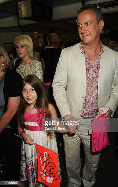 Stephen Tompkinson and daughter Daisy attend the press night for The Railway Children at The Waterloo Station Theatre on July 12 2010 in London...