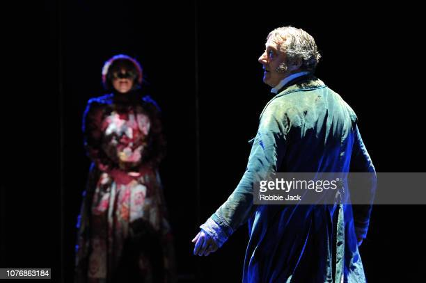 Stephen Tompkinson as Ebenezer Scrooge in Jack Thorne's adaptation of Charles Dickens' A Christmas Carol directed by Matthew Warchus at The Old Vic...