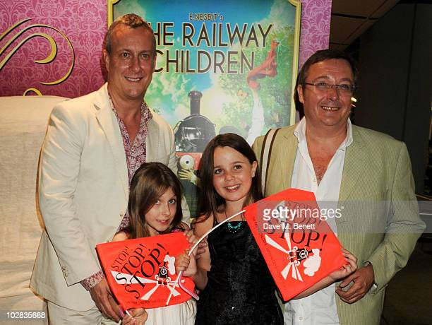 Stephen Tompkinson Daisy Tompkinson Molly Prendergast and Shaun Prendergast attend the press night for The Railway Children at The Waterloo Station...