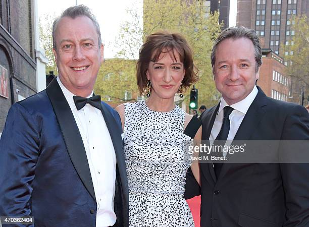 Stephen Tompkinson Haydn Gwynne and Neil Pearson arrive at The Old Vic for A Gala Celebration in Honour of Kevin Spacey as the artistic director's...