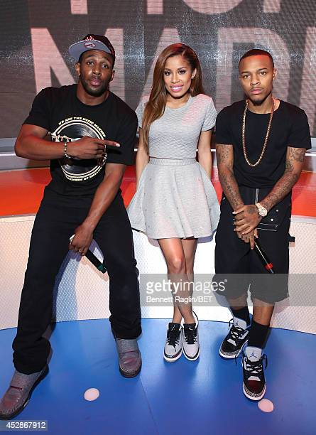 Stephen 'tWch' Boss Keshia Chante and Shad Moss Keshia Chante attend 106 Park at BET studio on July 28 2014 in New York City