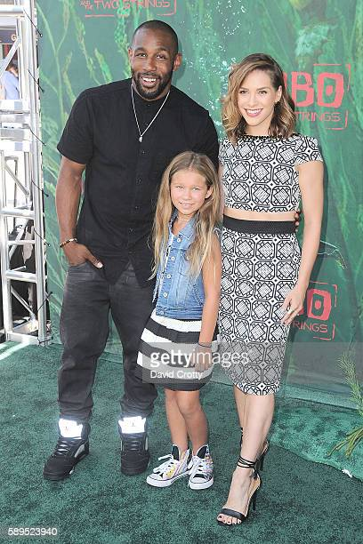 Stephen tWitch Boss Allison Holker Weslie Fowler attend the Kubo and the Two Strings World Premiere at AMC Universal City Walk on August 14 2016 in...