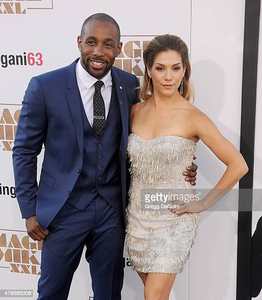 Stephen 'Twitch' Boss and Allison Holker arrive at the Los Angeles World Premiere of Warner Bros Pictures' Magic Mike XXL at TCL Chinese Theatre IMAX...