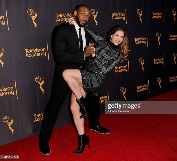 Stephen tWitch Boss and Allison Holker attend Television Academy's 'Whose Dance Is It Anyway' celebration at Saban Media Center on February 16 2017...