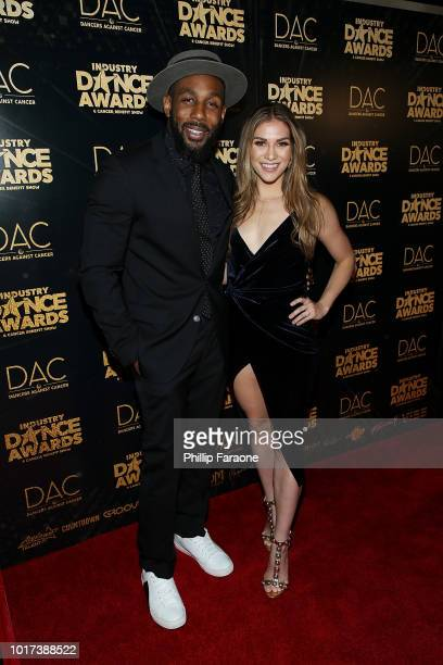 Stephen 'tWitch' Boss and Allison Holker attend the 2018 Industry Dance Awards at Avalon Hollywood on August 15 2018 in Los Angeles California