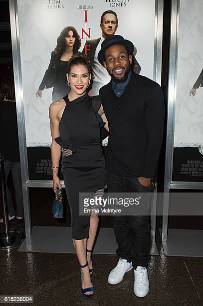 """Stephen """"tWitch"""" Boss and Allison Holker attend the screening of Sony Pictures Releasing's 'Inferno' at DGA Theater on October 25, 2016 in Los..."""