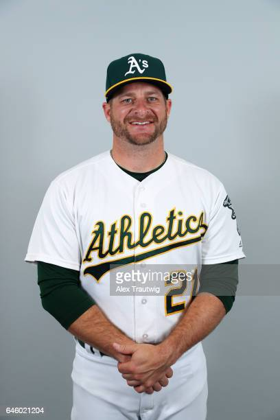 Stephen Vogt of the Oakland Athletics poses during Photo Day on Wednesday February 22 2012 at Hohokam Stadium in Phoenix Arizona